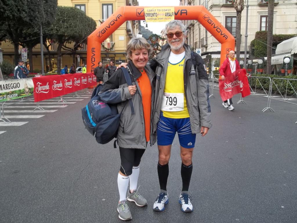 Coast to coast marathon Sorrento-Amalfi